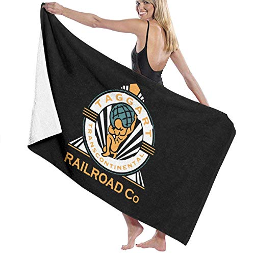 DOKEVFOB Atlas Shrugged Inspired Ayn RAND Print Design Microfiber Beach Towel