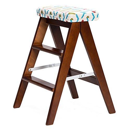 CivilWeaEU- Tabouret pliant en bois massif/échelle pliante simple/tabouret de cuisine/tabouret portatif/banc de jardin pliant -Chaise