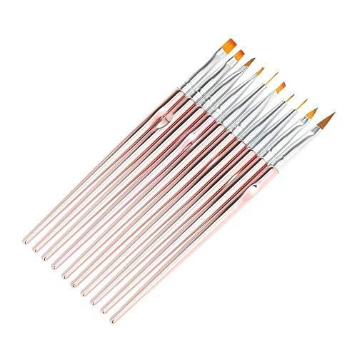 10pcs Mode UV Gel Acrylique des Ongles Brosses Nail Art Design Peinture Liner Pen Set manucure Outil pour Nail Art