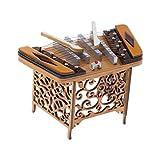 ウッド 楽器モデル ミニチュア 揚琴モデル 楽器模型 子供 プレゼント 全2サイズ - 10x6cm