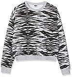 Urban Classics Pullover Ladies All-Over-Print Short Sweater Crewneck Sudadera, Gris (Grey Tiger 02360), XXXX-Large para Mujer