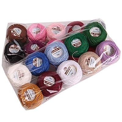 Amazon - 15% Off on Crochet Thread 20 Colors Crochet Yarn for Crocheting Crochet Yarn for Beginner