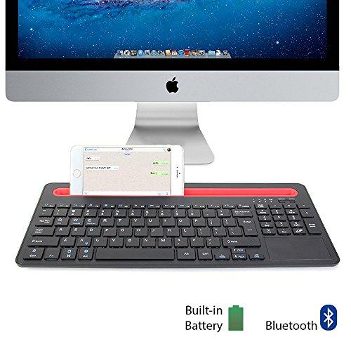 GMYLE - Teclado sem fio bluetooth com dock para celular, tablet e outros perifericos