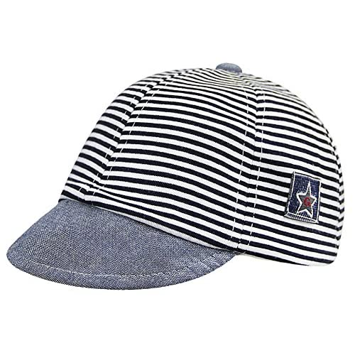 6d75655926f Kids Baby Classic Stripe Hat Baseball Cap Toddler Infants Pure Cotton Hat  Adjustable Peaked Cap Sun