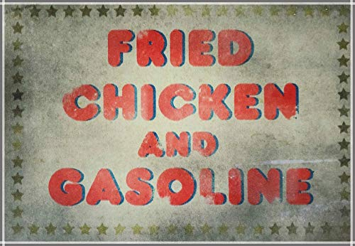 Replica Metal Sign House of 1000 Corpses Fried Chicken & Gasoline Art Decoration Indoor Sign Wall Decoration Metal Tin Sign 8x12 Inch