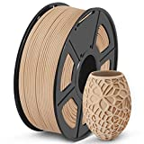 SUNLU Wood 3D Printer Filament, Wood PLA Filament 1.75mm 1kg Spool, Dimensional Accuracy +/- 0.02 mm, Real Wood Filament