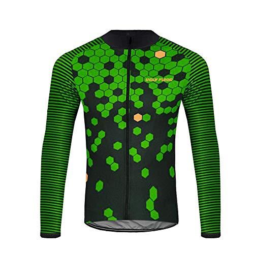 Uglyfrog HDWLJ06 2019 Winter Jersey Thermisches Fahrradtrikot Vlies Thermo Langarm Shirt/Fahrradbekleidung Radtrikot Langarm Winddicht Herren Thermische Fleece