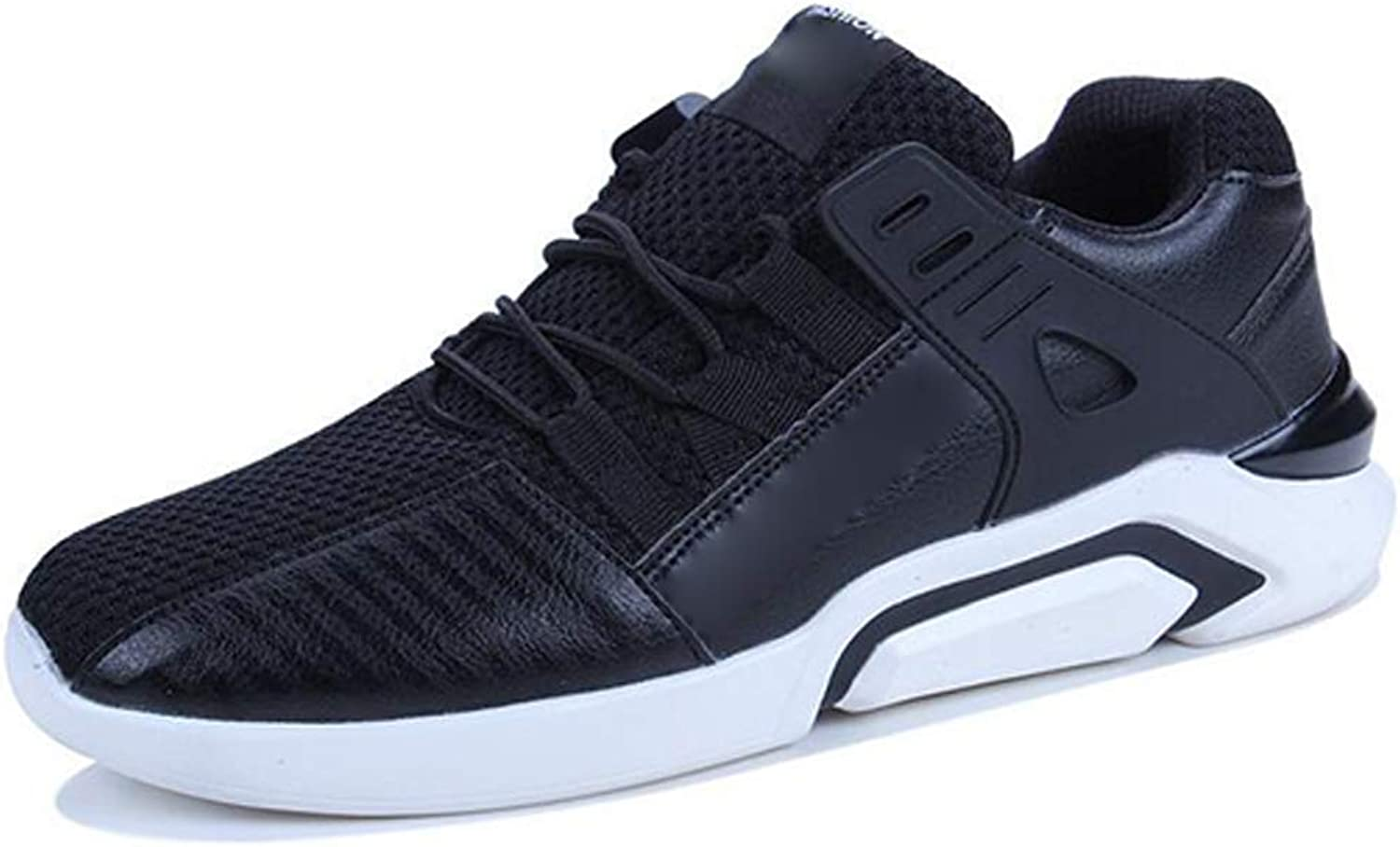Outdoor Sneakers for Mens Men's Running shoes Outdoor Sports Casual Fashion Versatile Low Cut Breathable Three color and Multi Size (color   Black, Size   44)