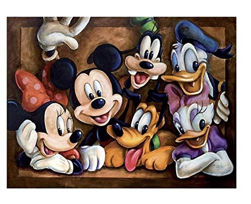 5D Pintura de Diamante Kits Adulto Principiante Diamante Completo Diamante de Imitación Numerado Artista decoración de La Pared del Hogar Mickey Mouse 11.8x15.8inch(30x40cm)