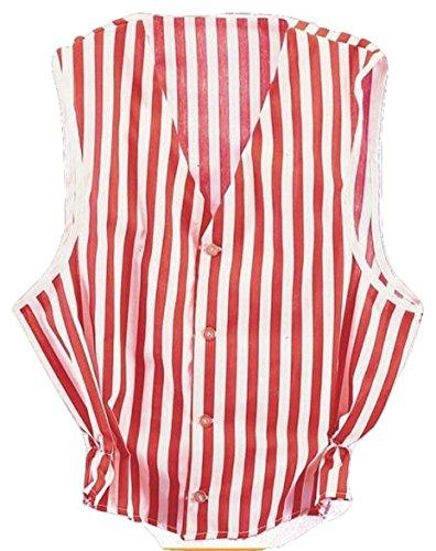 Rubie's Costume Co Men Med. (Up To 40) Costume Red & White Striped Vest Red/White Medium