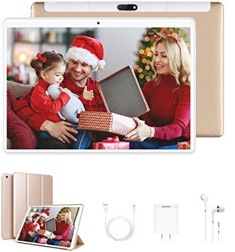 Tablet 10 Pollici con Wifi Offerte, RAM da 4GB 64GB ROM/128GB 4G Tablet PC Offerte Android 9.0 Quad-Core1.5 GHz Dual SIM DUODUOGO Table PC Offerta Del Giorno con Netflix/OTG(P6 G)