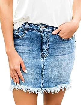 Best denim button skirt Reviews