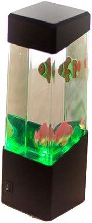 Acuario con peces tropicales, bolas de agua y medusas. Luces LED para ambiente relajado