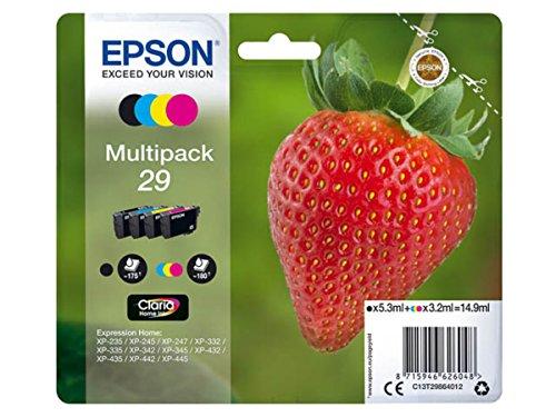 Epson original - Epson Expression Home XP-247 (29 / C13T29864012) - Tintenpatrone Multipack (schwarz, Cyan, Magenta, gelb)