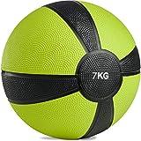 POWRX - Balón Medicinal 7 kg + PDF Workout (Lime)