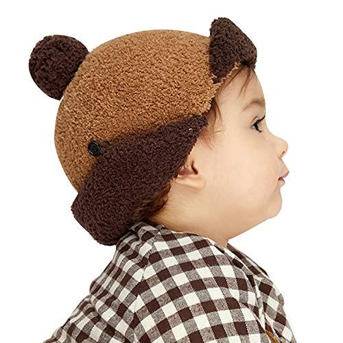 WFF Sombrero Baby Girls Boys Hats Winter Casper Cap Hat Hatie Fleece Piloto Aviator Aviator Flap para EDADE 0-3 Gorro de puntogorra (Color : Camel, Size : Hat)