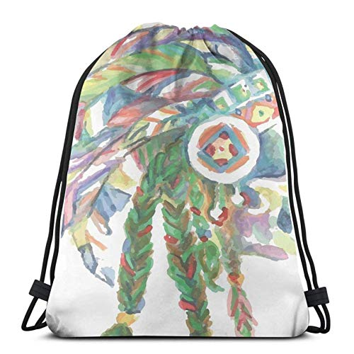 Cinch Bags Great Wall Of Bo-Wser Gym Lightweight Drawstring Bags Durable Print Cinch Bags Unique Travel Drawstring Backpack Casual Women Men Anime For Spring Outing Dancing Mountai