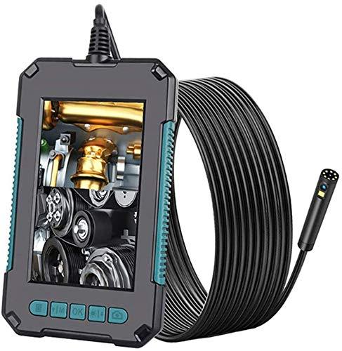 YUKM Fotocamera per endoscopio a Doppia Lente da 8 mm con Schermo ad Alta Definizione da 4,3 Pollici, endoscopio Industriale Impermeabile da 10 m IP67, Telecamera di ispezione Auto
