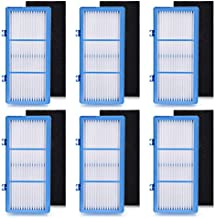 Anicell 6 HEPA Filter + 6 Carbon Booster Air Filters for Holmes AER1 Type Total Air Purifier Filter, HAPF30AT for Air Purifier HAP242-NUC