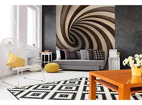 Vlies Fotobehang VERDRAAIDE 3D TUNEL | Niet-Geweven Foto Mural | Wall Mural - Behang - Reusachtige Wandposter | Premium Kwaliteit - Gemaakt in de EU | 225 cm x 250 cm