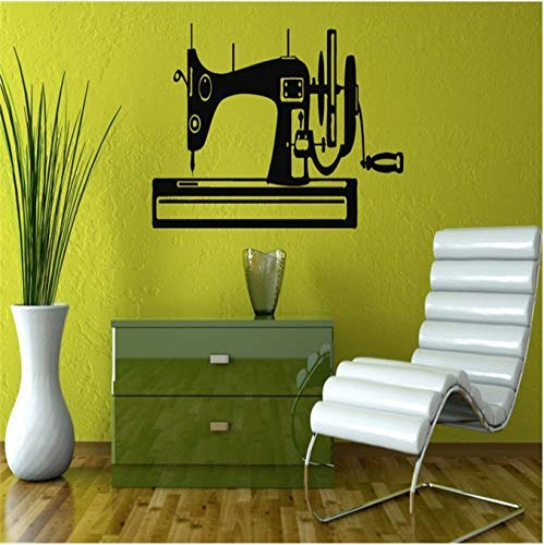 Máquina De Coser Silueta Diseño Creativo Pegatinas De Pared Hogar Dormitorio Arte Moderno Decorativo Vinilo Pared Calcomanía 30X57Cm