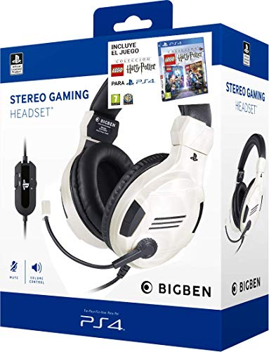 Pack Lego Harry Potter PS4 + Auriculares PS4 Headset v3 Blanco (Edición exclusiva Amazon)