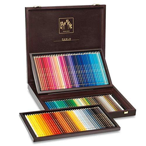 120 color set Caran d'Ache Pablo 0666-920 wooden box (japan import)