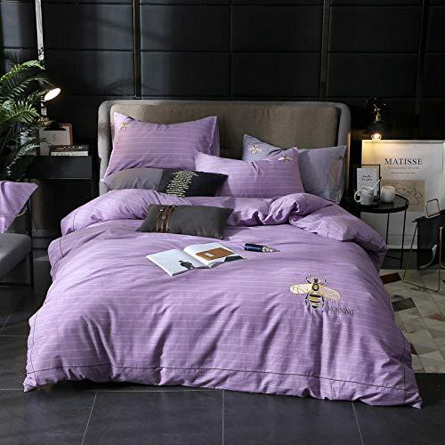 bettwäsche 155 x 316 baumwolle,Bedding_New Baumwolle Stickerei vierteilige Baumwolle High-Density-High-Density-Bettwäsche mit vier Schlafzimmern Selbsthilfegruppe Kauf Geschenk Charge-F_Super King