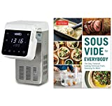 Vesta Precision Imersa Elite Sous Vide Cooker Bundle with America's Test Kitchen 'Sous Vide for Everybody' Cookbook - White