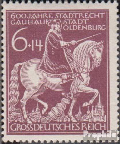Prophila Collection Deutsches Reich 907IV (kompl.Ausg.), gebrochenes Schwert (Feld 18) 1944 601 Jahre Oldenburg (Briefmarken für Sammler) Pferde