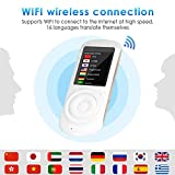 """Balscw-F Traductor de Voz Inteligente, 2.4""""Pantalla táctil Mini Handheld simultáneo de Dos vías trad..."""