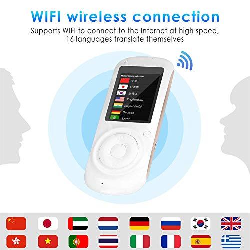 Traduttore vocale intelligente, 2.4 touch screen mini portatile simultanea due vie lingua traduttore inglese cinese francese spagnolo tedesco italiano