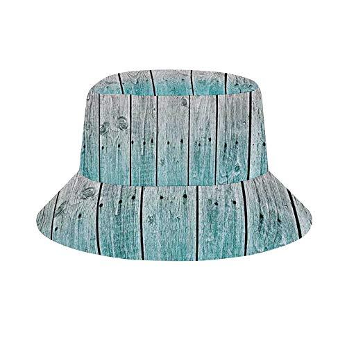 PecoStar Unisex Bucket Hat Sonnenhut, R Stico Fundas n Rdicas Set Madera Paneles Fondos Con Tonos Digital efecto pa s casa Fischerhut für Wandern