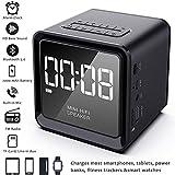 2019 UPGRADE Digital Alarm Clock Radio with Wireless Bluetooth Speaker for...