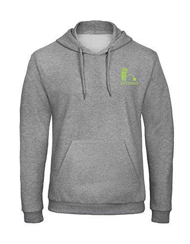 avstickerei Apple vs Android Embroidered Unisex Hooded Sweatshirt Hoodie Really Premium Quality - 7038 Gray (XXL)