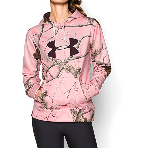 Under Armour Big Logo Hoody - Women's Realtree Ap Pink / Ivory / Ox Blood Large