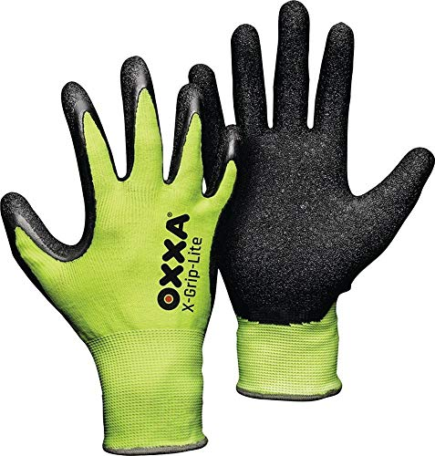 OXXA Handschuhe X-Grip-LITE Gr.9 schwarz/Fluo-gelb Nylon-Träger Kat.II, 1 Paar
