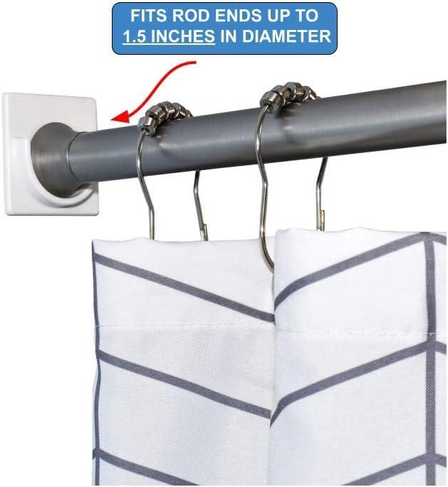 adherion adhesive shower curtain rod