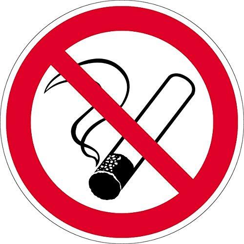 Schild Rauchen verboten gemäß ASR A1.3/ BGV A8 Kunststoff 20 cm Ø (Verbotsschild, nicht rauchen, Rauchverbot) wetterfest