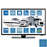 Camper Caravan Barca 12 Volt 22 pollici (56 cm) LED Full HD Digitale TV DVB-T2/C/S2...