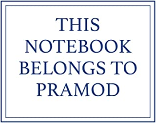 This Notebook Belongs to Pramod