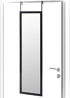 Espejo de Puerta Moderno Negro de plástico para Dormitorio