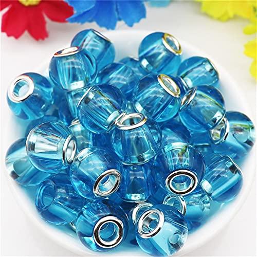 YSJJNDH Lampwork Glasperlen 10 Teile/los 16mm große größe runde Glas Spacer perlen fit Armband Halskette für DIY Kette Schnur Machen Frauen männer Geschenk (Color : 16mm Big Glass 8)