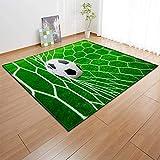 Kids Fun Sport Teppiche, Krabbelnde Lernspielmatte für Kinder Druck mit Fußball-Fußballteppich zum Dekorieren, Küche, Wohnzimmer, Kinderzimmer