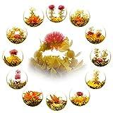 Teavivre 12pcs Handmade Blooming Flower Tea, Assorted Flowering Green Tea Ball