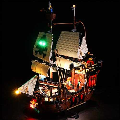 N-brand Kit De Luces LED para Barco Pirata Compatible con El Modelo De Bloques De Construcción Lego 31109 (Solo LED Incluido, Sin Modelo)
