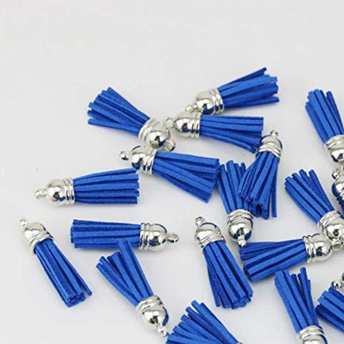 38mm Vintage lederen kwasten/sieraden accessoires/sieraden bevindingen/oorbellen accessoires groothandel, Royal Blue