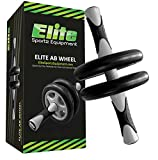 Elite Sportz Ab Wheel Rollers - Our Ab Exercise Wheels are Sturdy, Smooth Rolling, and has Non- Slip Handles (Dual Wheel)