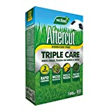 Aftercut 20400504 Herbicide Free Lawn Triple Care 100m2 Spreader Box, Yellow, 3.5 kg