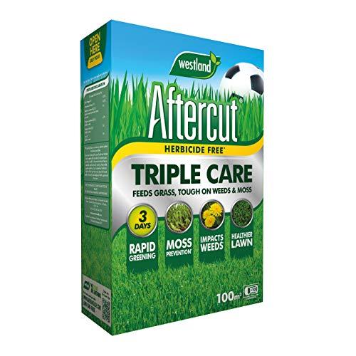 Aftercut 20400504 Herbicide Free Lawn Triple Care 100m2 Spreader Box,...